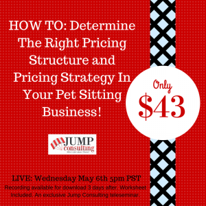 Price structure pet sitters